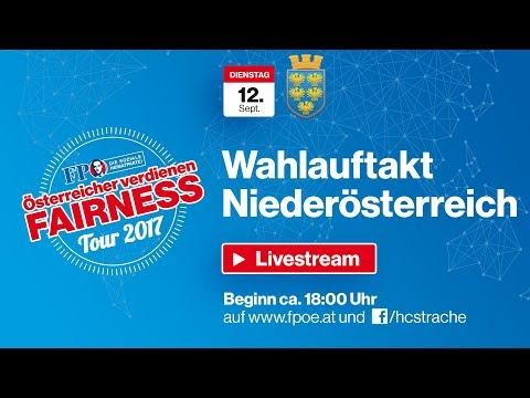 Komplettaufzeichnung: Fairness-Tour Landeswahlauftakt Niederösterreich