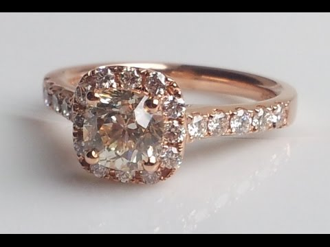 1.49ct Sustainable Cushion Cut Diamond & Rose Gold Engagement Ring