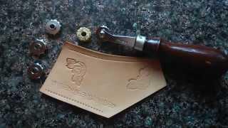 Маркер для разметки кожи + ролик для тиснения./ Japan marker for leather + roller for stamp(, 2015-07-28T13:10:43.000Z)