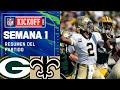SAINTS PASAN POR ENCIMA de los PACKERS   Semana 1 2021 NFL Game Highlights