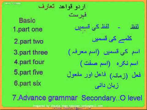 ENGLISH TO URDU GRAMMAR BOOK EPUB
