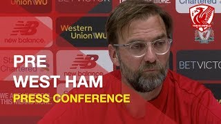 West Ham vs. Liverpool | Jurgen Klopp Press Conference