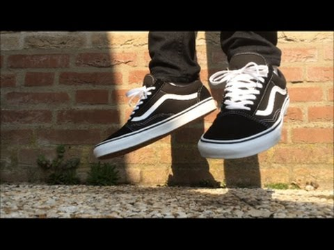 vans old skool on feet