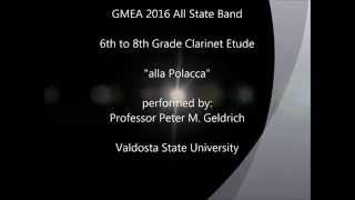 "GMEA 2016 All State Clarinet Etude 6th-8th Grade ""alla Polacca"""