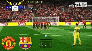 Pes 2019 | manchester united vs barcelona comeback messi free kick goal uefa champions league - ucl gameplay pcsubscribe please)) http://www..c...