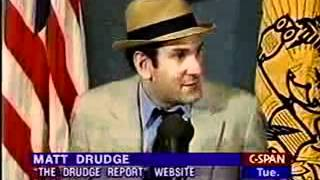 Matt Drudge Creator of Drudge Report Press Conference - (2 of 4)