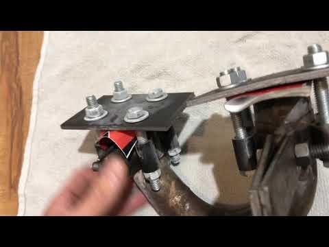 Repair dented motorcycle header pipe