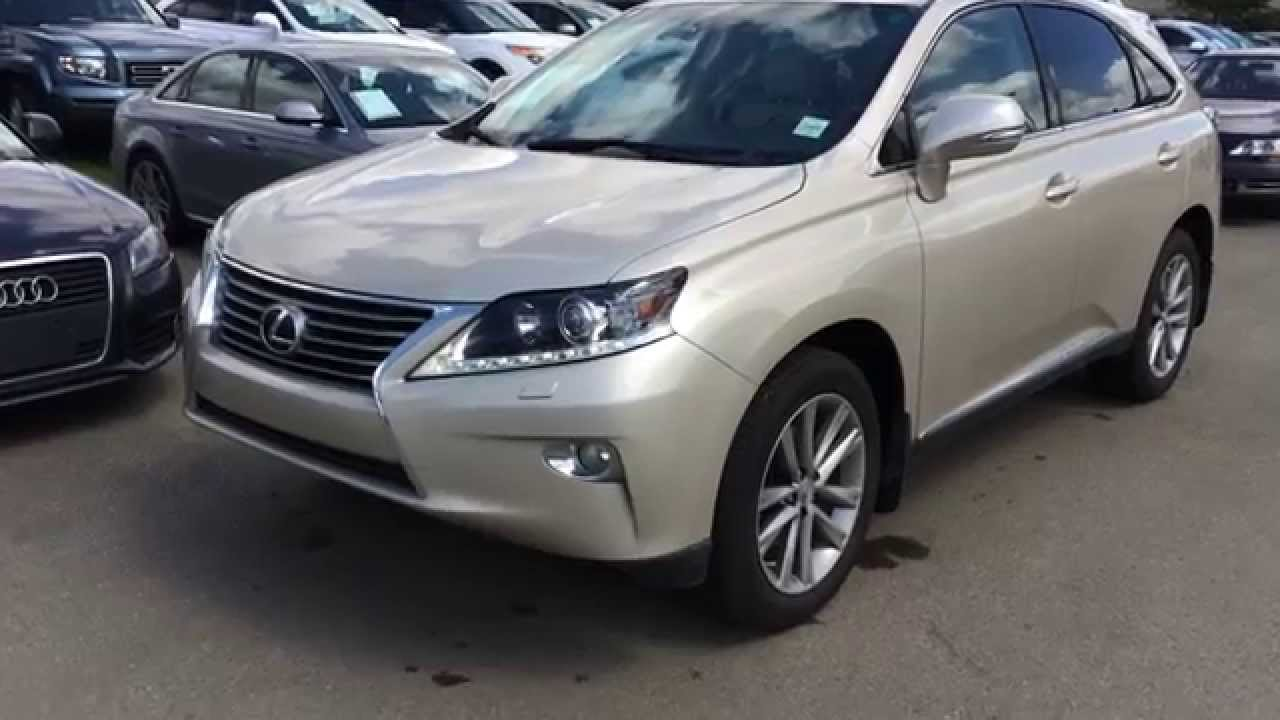 Lexus Certified Pre Owned Gold On Parchment 2013 Rx 350