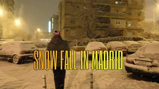 SNOW FALL IN MADRID