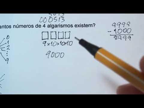 Análise combinatória números de quatro algarismos distintos