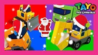 Tayo Lagu Alat-Alat Berat yang Kuat mainan kertas l Lagu Natal versi Tayo l Lagu untuk anak anak