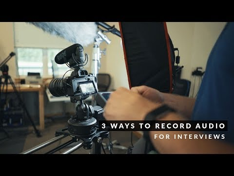 3 ways to record AUDIO for INTERVIEWS | Move with Rhino - Ep25