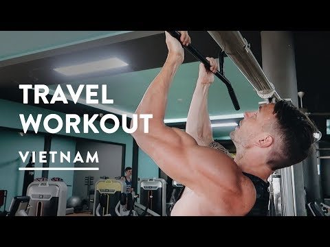 OUR TRAVEL WORKOUT AT SUPERFIT GYM HOI AN  | Digital Nomad Fitness | Vietnam Vlog 072