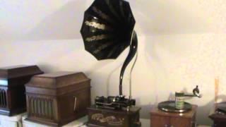 """Edison 4 Minute Cylinder """"The Watermelon Party"""",  Polk Miller And His Old South Quartette"""