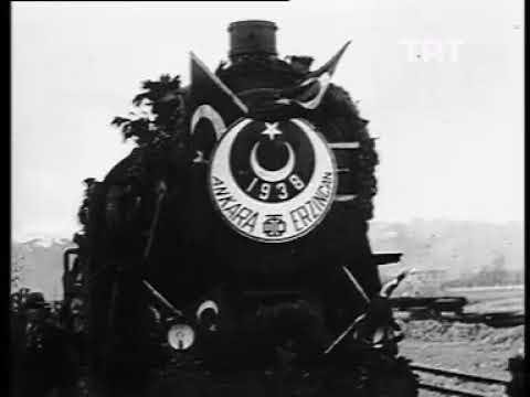 1938 Ankara Erzurum Demiryolu'nun Erzincan'a Varış Töreni