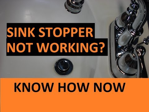How to adjust a bathroom sink drain stopper