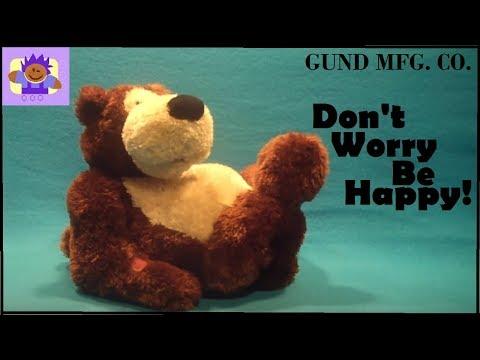 2006 Gund Teddy Bear don't worry be happy singing plush toy