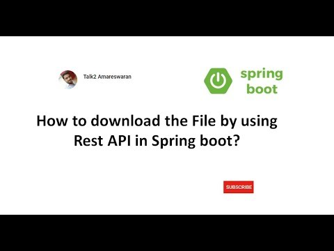How to download the File by using Rest API in Spring Boot?
