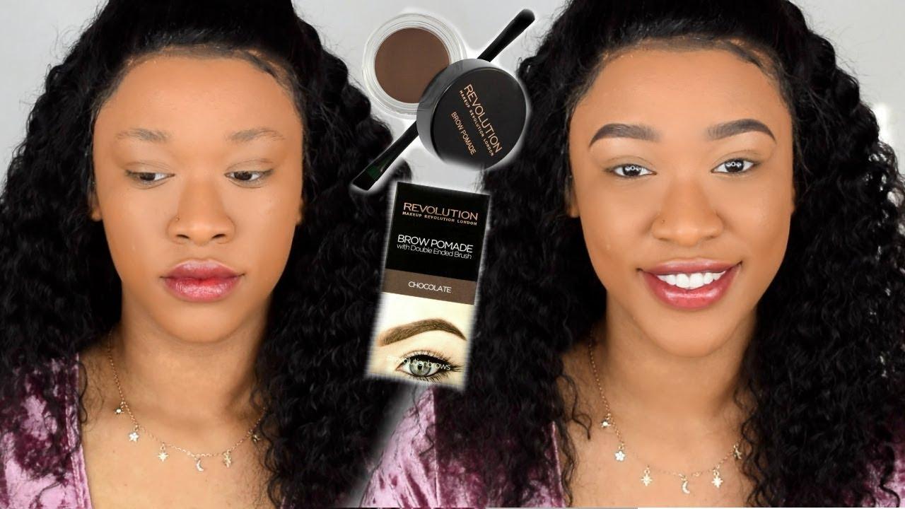 Brow Pomade Tutorial Makeup Revolution Youtube