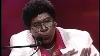 Barbara Jordan speaks at the 1992 Democratic Convention