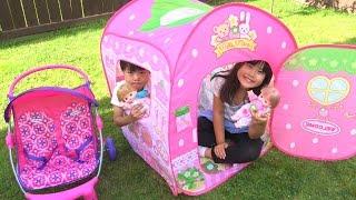 メルちゃん ネネちゃん いちごの おおきなおうち Baby Doll Mellchan Play House Toy こうくんねみちゃん thumbnail