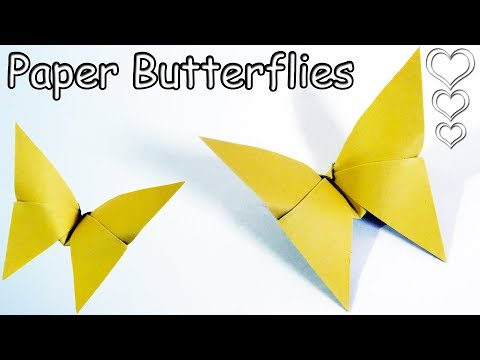 Easy Paper Butterfly (ORIGAMI) - Cute & Easy Butterfly (DIY) - Origami for Beginners