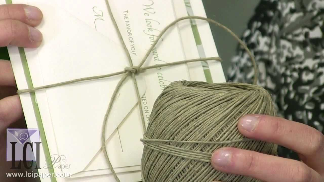 Why Should You Use Rustic Twine To Your Wedding Invitations - YouTube