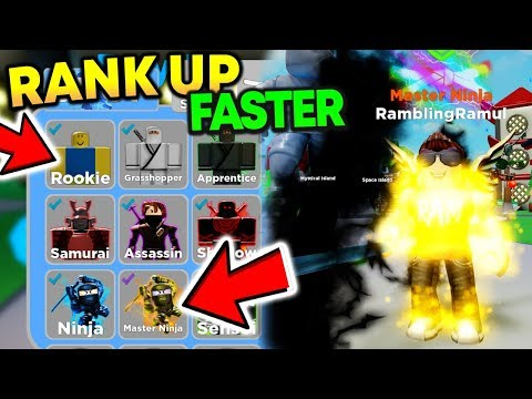 This Made Me RANK UP FASTER In Ninja Legends (Roblox)