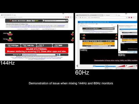 144Hz 60Hz multi-monitor bug featuring Chrome and OBS