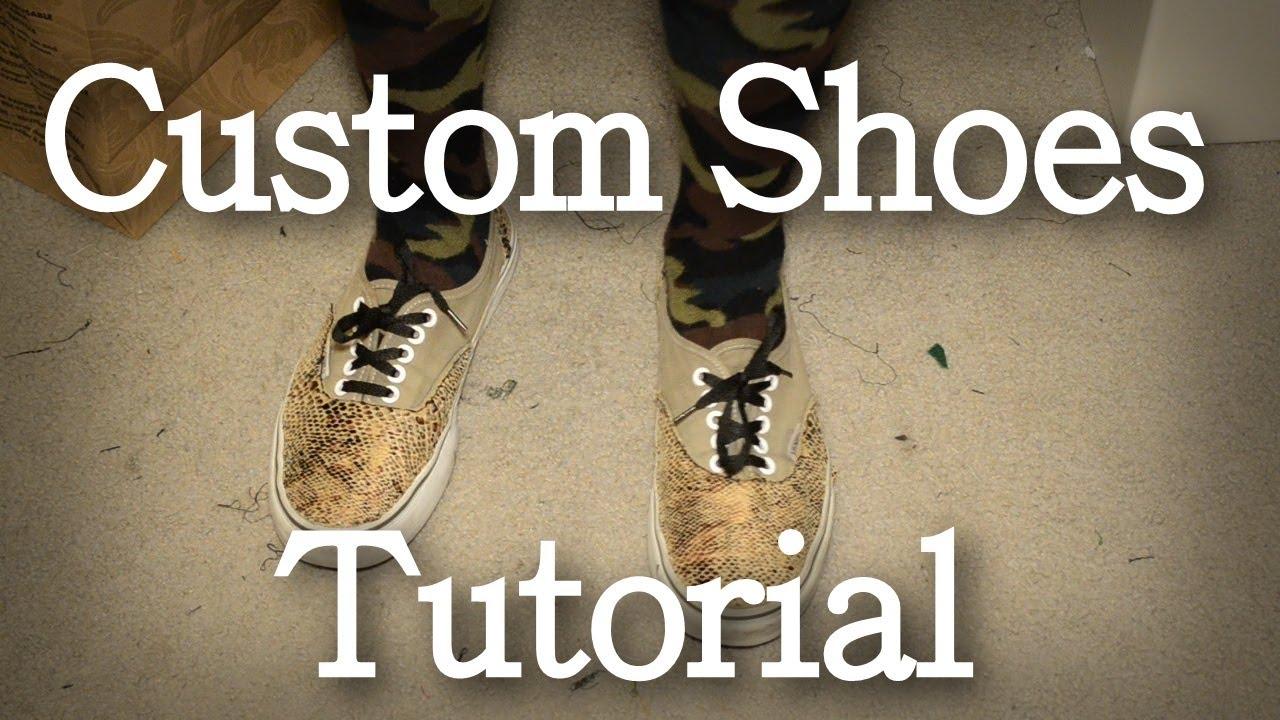 DIY: Custom Shoes Tutorial (Custom Vans) | KAD Customs #7 ...