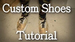 DIY: Custom Shoes Tutorial (Custom Vans)  | KAD Customs #7