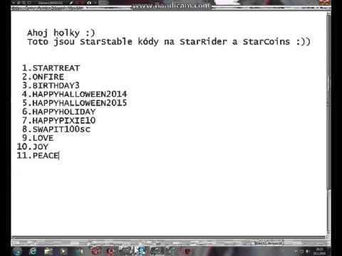 StarStable online - kódy na StarRider a StarCoins