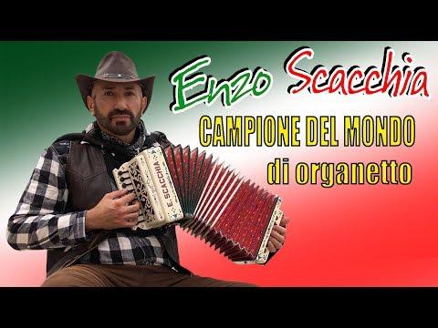 CAMPIONE MONDIALE DI ORGANETTO con TECNICA A CINQUE DITA. Super POLKA DEL TRILLO. ENZO SCACCHIA