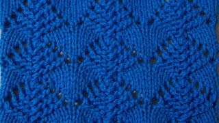 Ажурный узор 1 Вязание спицами Видеоурок 176