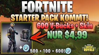 Fortnite: Battle Royal | Starter Pack verfügbar! 600 V-Bucks + Skin + Backpack nur 4,99€!
