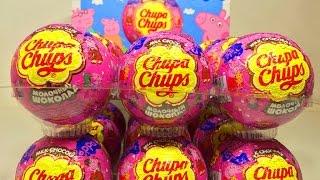 Свинка Пеппа шары сюрпризы Чупа Чупс как Киндеры ( Unboxing Surprise Eggs Peppa Pig Chupa Chups )