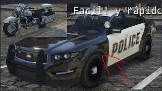 Como conseguir Un auto de Polica en Gta :) Y una moto de poli :)