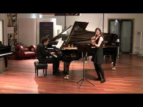 """Maurice Ravel: Violin Sonata No. 2, """"Blues"""" - Franziska Hölscher, Benjamin Moser"""
