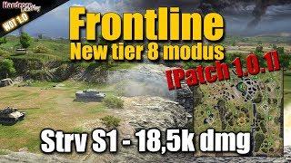 WOT: Frontline mode, 18k dmg, Strv S1, WORLD OF TANKS