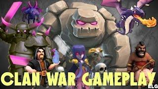 Clan Wars High Level Gameplay - Dragon, Hog Rider, Balloonion Attacks - Clash of Clans
