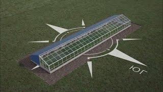 видео Круглогодичная теплица из поликарбоната: строительство своими руками