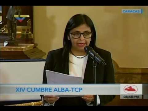 XIV Cumbre del ALBA: Maduro concluye cumbre, Delcy Rodríguez lee declaración final