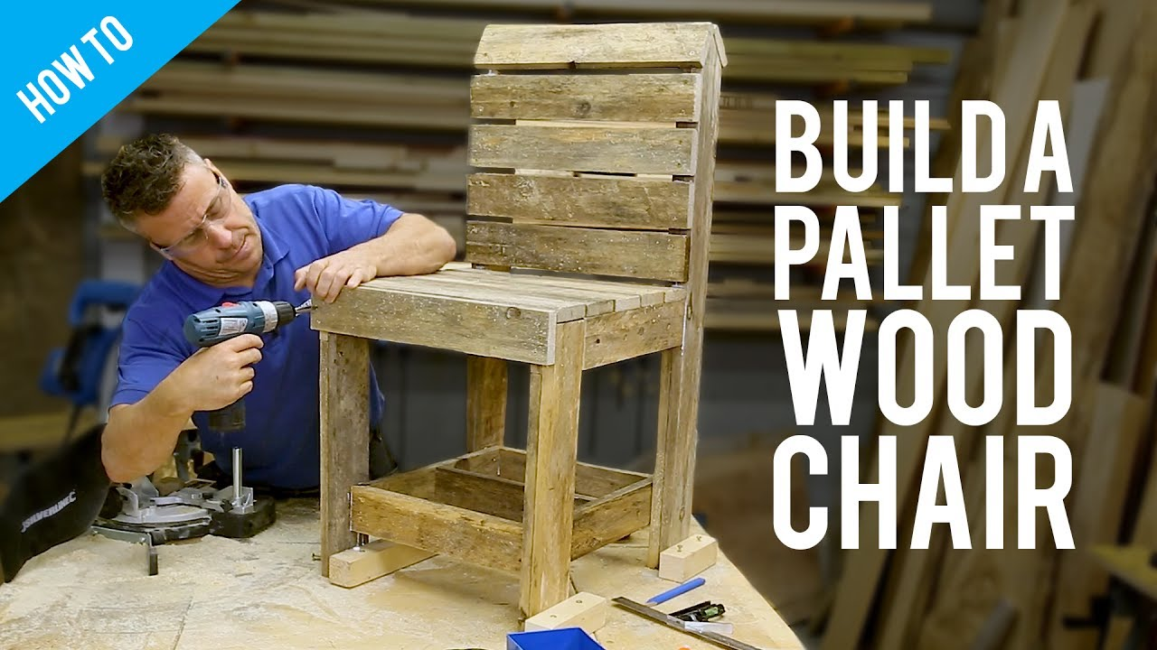 How to build a DIY pallet chair  sc 1 st  YouTube & How to build a DIY pallet chair - YouTube