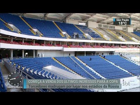 Fifa começa a vender os últimos ingressos para a Copa da da Rússia   SBT Brasil (18/04/18)