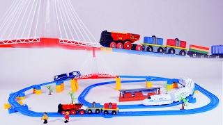 Happy train - trains - train videos for children - toy train for kids - trains for children