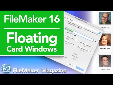 FileMaker 16 Tutorial - Floating Card Windows