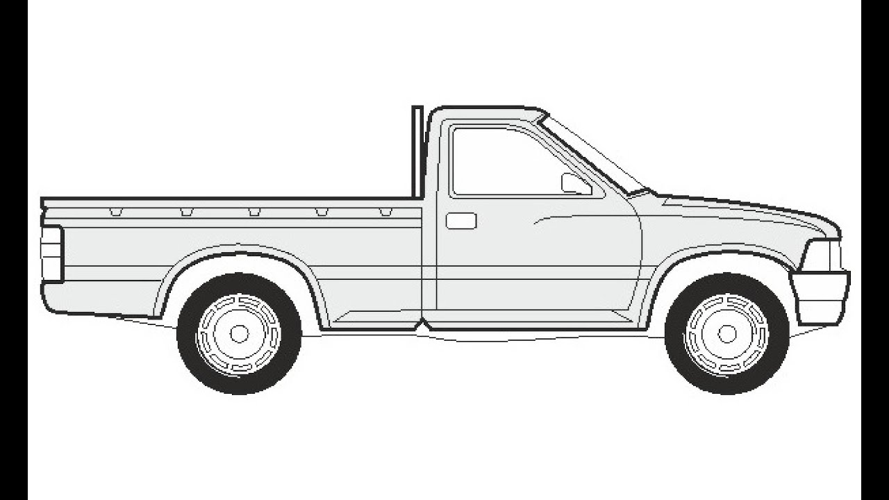 How To Draw A Toyota Hilux Pick Up Как нарисовать Toyota