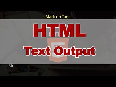 HTML | Text Output