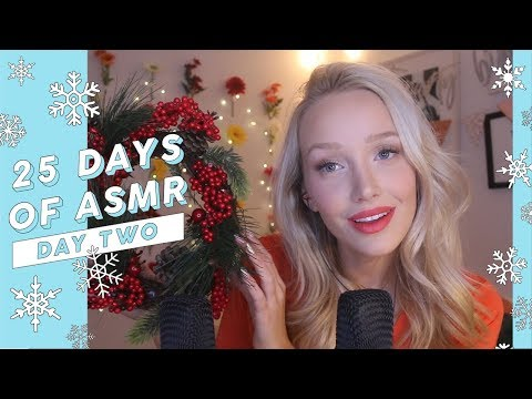 15 ASMR Tingle-Tastic Binaural Triggers! #25DaysOfASMR (Holiday Themed & Whispered) | GwenGwiz