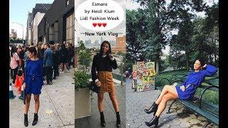 esmara by heidi klum lidl fashion week   new york vlog